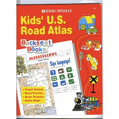 us road map amazon rand mcnally kids us road atlas backseat books