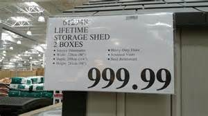 lifetime products storage shed 8 x 10 costco weekender