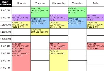 design lab high school calendar step 2 schedule your courses faculty of science