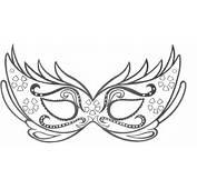 Ausmalbilder Malvorlagen Carnaval Maske