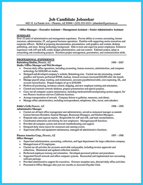 resume exles for assistants sle to make administrative assistant resume