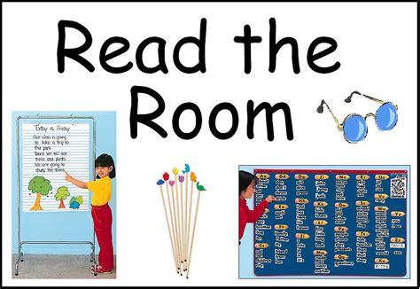 read the room classroom center signs