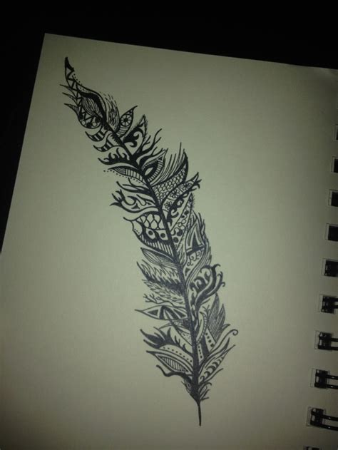tribal feather tattoo designs feather i did it feathers search