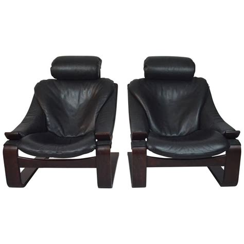 20th century black leather armchairs at 1stdibs