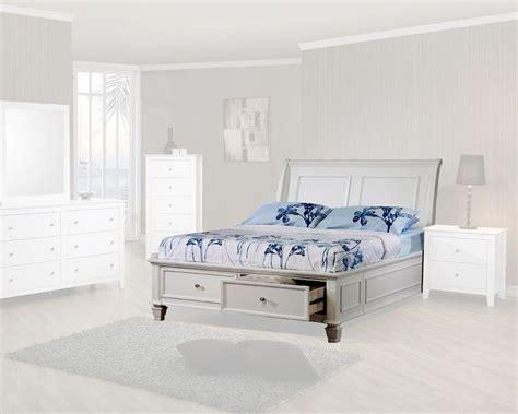 dreamfurniture com sandy beach storage bed bedroom set coaster furniture sleigh bed with storage sandy beach co400239