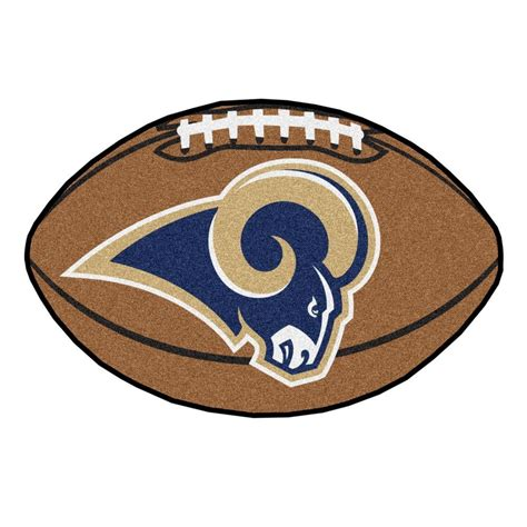 brown rams fanmats nfl los angeles rams brown 1 ft 10 in x 2 ft 11