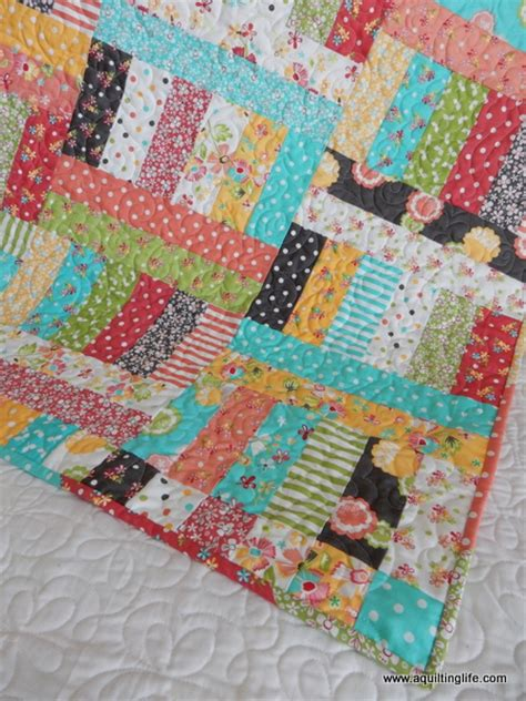 Jelly Roll Patchwork Quilt Patterns - a quilting a quilt patchwork baby quilt