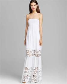 lace maxi dress guess embroidered lace maxi dress in white lyst