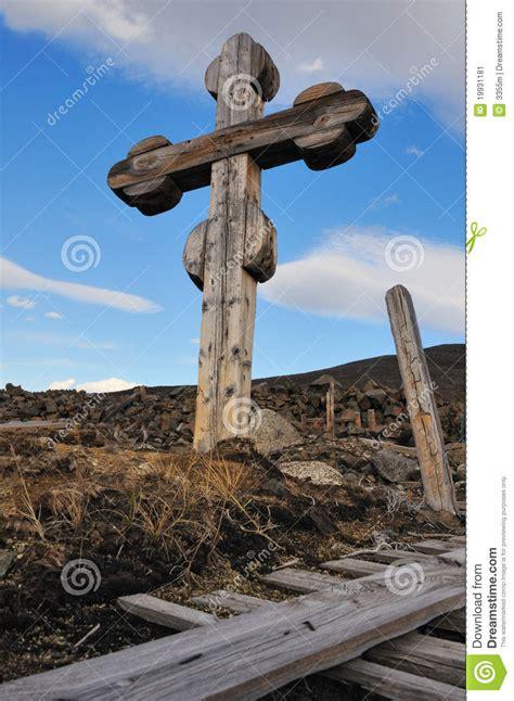 cemetery  wooden cross stock image image
