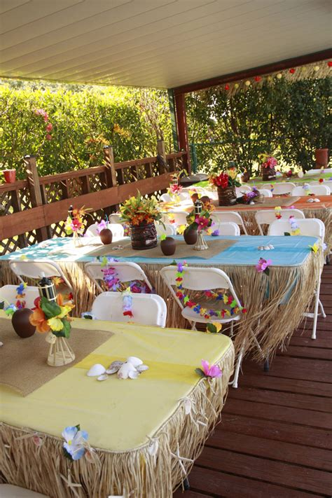 party themes luau tropical party decorating ideas hawaiian luau 1st