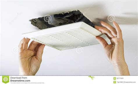 how to clean bathroom fan removing bathroom fan vent cover to clean inside stock photo image 32777620