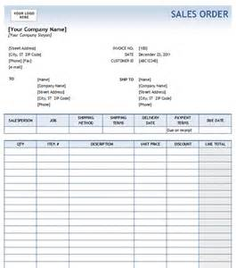 Sales Order Template by Sales Order With Blue Gradient Design Excel Format