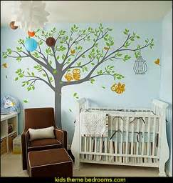 Pop decors vinyl art wall decals mural for nursery room nursery tree