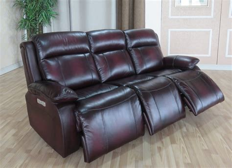 Top Grain Leather Sofa Recliner Faraday Top Grain Leather With 3 Power Recliners