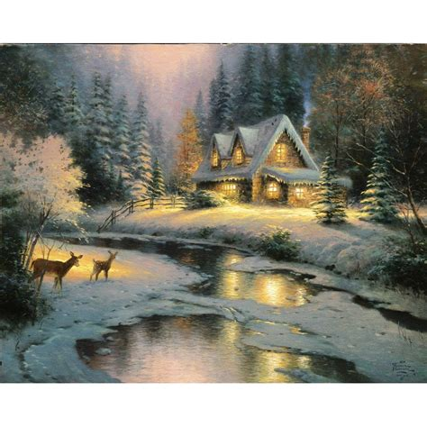 kinkade deer creek cottage prints
