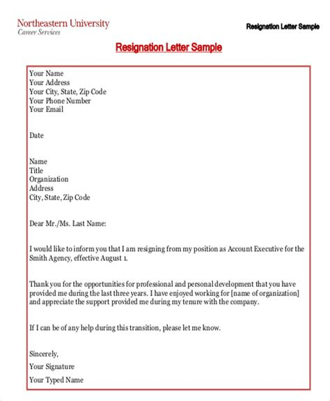 Free Printable Resignation Letter by Resignation Letter Due To Relocation Template 7 Free Word Pdf Format Free