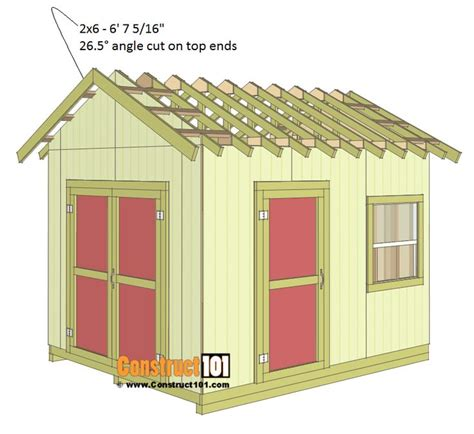 Shed Roof Trim by 17 Best Ideas About 10x12 Shed Plans On