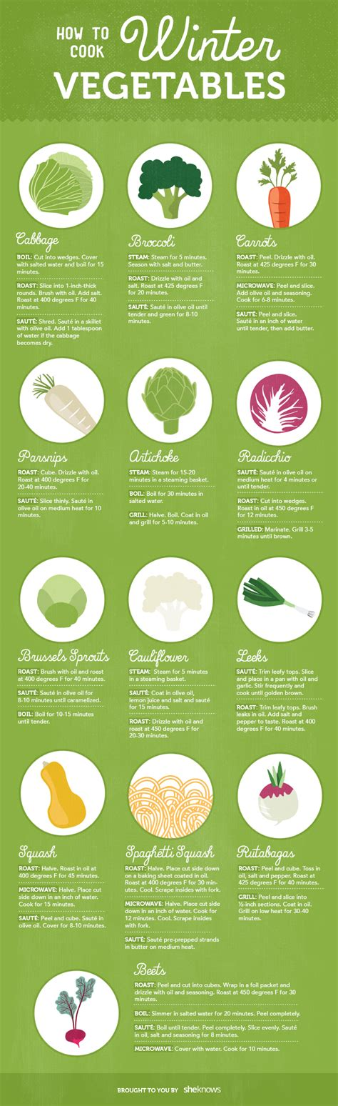 how to cook seasonal winter vegetables infographic