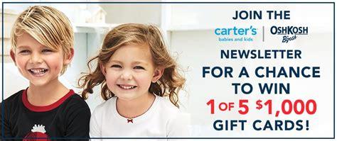 Carter S Oshkosh Gift Card - canada com carter s oshkosh contest win 1 of 5 1000 gift cards