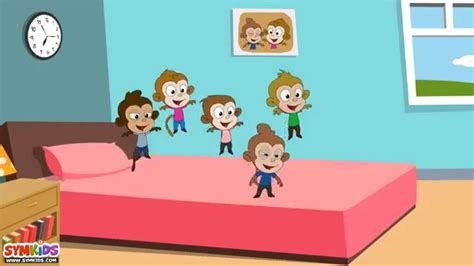 monkey jumping on the bed five little monkeys jumping on the bed nursery rhyme