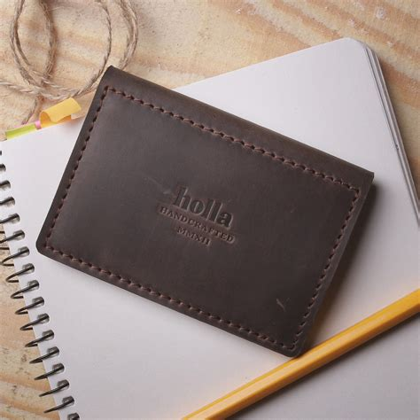 Handmade Leather Goods For - driver licence cover chocolate x handmade leather goods