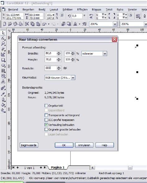 corel draw x5 out of memory error solution export problem sizes changes coreldraw graphics