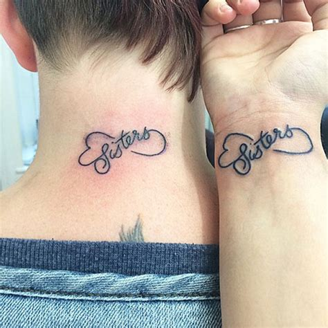 matching sister tattoos matching tattoos infinity