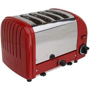 Dualit Toaster 4 Slice Dualit 4 Slicetoaster Classic Red 40417