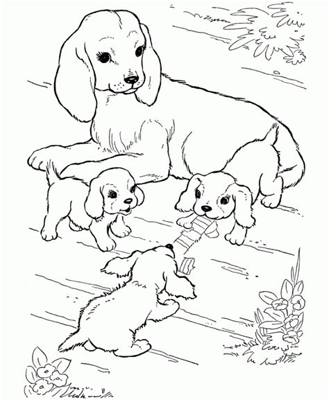 Free Printable Coloring Pages Of Dogs And Puppies | free printable dog coloring pages for kids