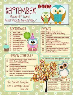 September Relief Society Newsletter My Creations Pinterest September And Relief Society Ffa Newsletter Templates