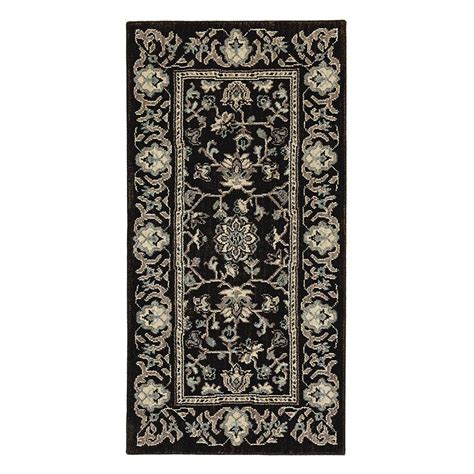 home accent rug collection home decorators collection jackson black 2 ft x 4 ft accent rug 509392 the home depot
