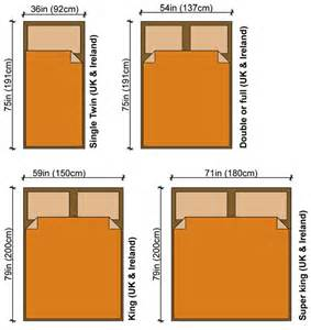 small bedroom size in bed size
