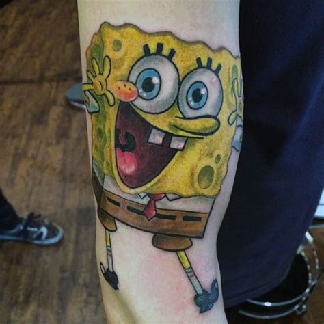 spongebob tattoo designs 50 spongebob designs for ink ideas