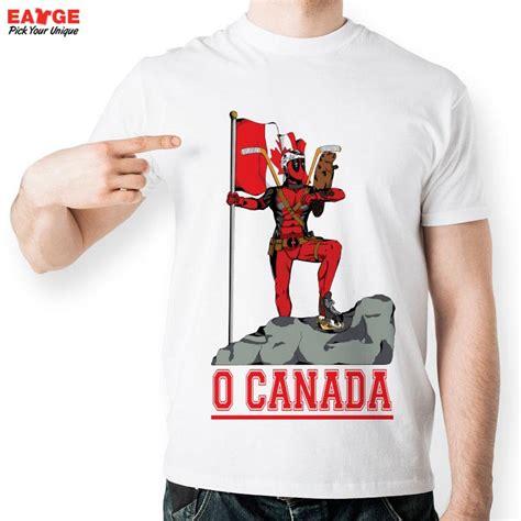 design t shirt canada eatge new design canada deadpool t shirt men funny