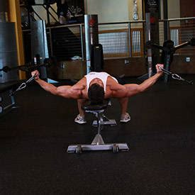 flat bench cable flye bench press with bands exercise guide and video