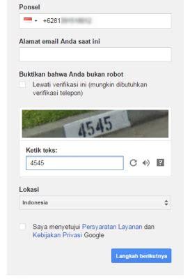 masalah saat membuat akun gmail isi captcha saat pembuatan akun google erudisi