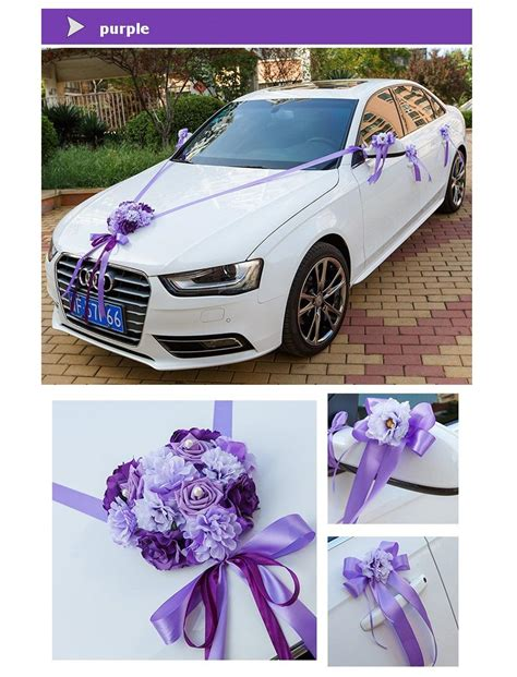 wedding car ribbon how to tie wedding car ribbon married car decorations bridal car