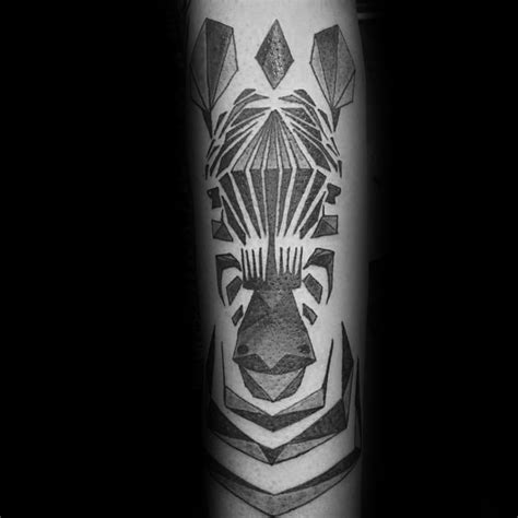 geometric zebra tattoo 40 zebra tattoos for men safari striped design ideas
