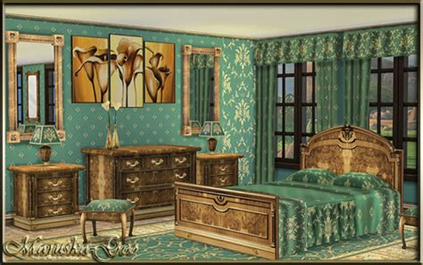 blues set furniture and decor at maruska geo 187 sims 4 updates vintage bedroom set at maruska geo 187 sims 4 updates
