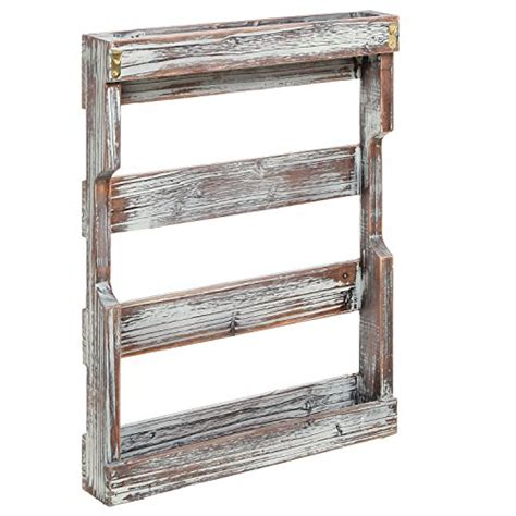 Coffee Cup Wall Rack by Country Rustic Style Brown Wood 12 Hook Wall Mounted