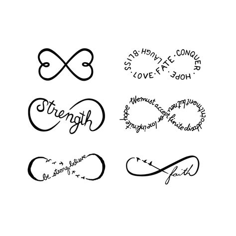 eternity symbol tattoo designs 50 sketches of infinity tattoos drawings golfian