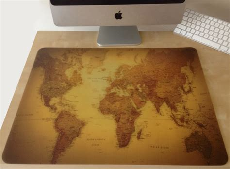 World Desk Mat by World Map Desk Pad Traditional Desk Accessories