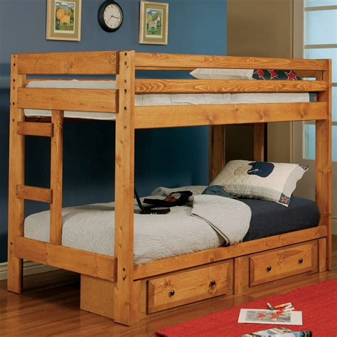 coaster loft bed coaster fine furniture 460243 twin over twin bunk bed