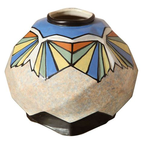 Deco Ceramic Vases belgian deco ceramic vase by a dubois at 1stdibs