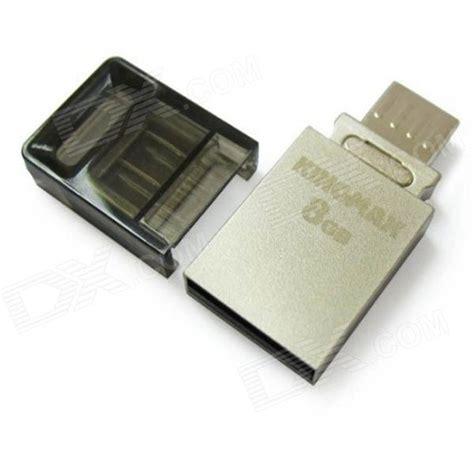 Usb Otg Flash Drive Kingmax Pj 02 Usb 2 0 Flash Drive Otg Silver 8gb