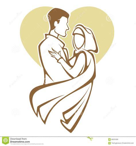 Muslimah Wedding Vector by Muslim Wedding Stock Vector Image 68331858