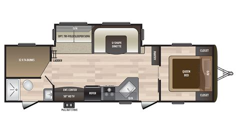 hideout rv floor plans new 2018 keystone hideout 28bhs bunkhouse travel trailer