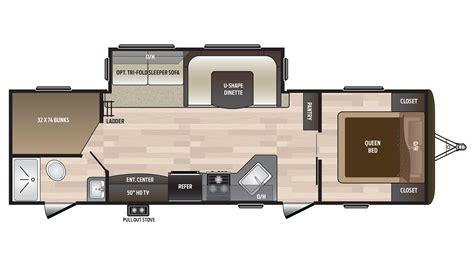 hideout rv floor plans 2018 keystone hideout 28bhs cer ebay