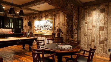 Accent Walls Living Room antique barnwood painted man cave dream home pinterest