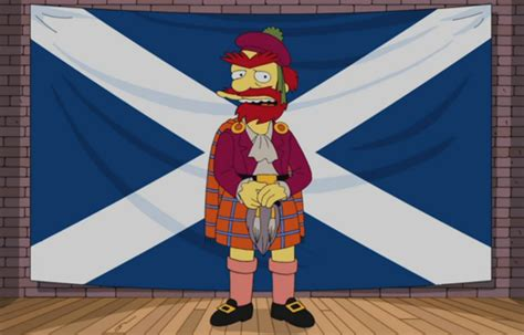 Scotland Search The Simpsons Groundskeeper Willie Supports Scottish Independence Time